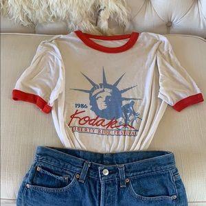 Vintage 1986 Kodak Liberty Ride Festival T-Shirt